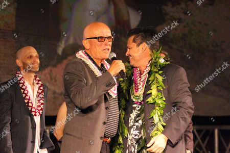 Peter Weller and Peter Lenkov at the Sunset on the Beach event for season 8 of the CBS show Hawaii Five-0 on Waikiki Beach in Honolulu, Hawaii - Michael Sullivan/CSM