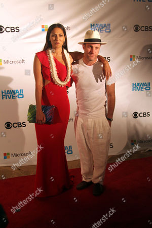 Meaghan Rath and Scott Caan on the red carpet at the Sunset on the Beach event for season 8 of the CBS show Hawaii Five-0 on Waikiki Beach in Honolulu, Hawaii - Michael Sullivan/CSM