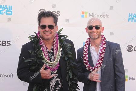 Stock Photo of Peter Lenkov at the Sunset on the Beach event for season 8 of the CBS show Hawaii Five-0 on Waikiki Beach in Honolulu, Hawaii - Michael Sullivan/CSM