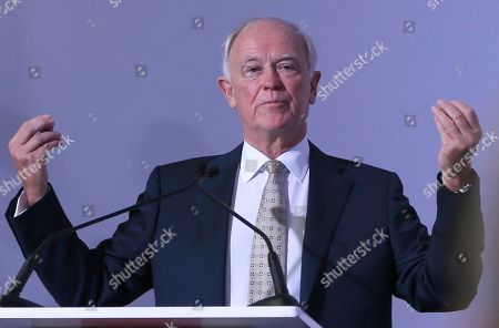 Emirates President Tim Clark speaks to the journalists during a press conference at the opening day of the Dubai Air Show, United Arab Emirates, . Emirates, the Middle East's largest air carrier, has unveiled new, state-of-the-art, first class private suites