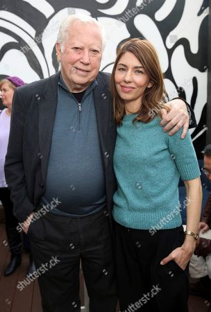 """Stock Picture of Fred Roos, Sofia Coppola. Fred Roos and writer/director Sofia Coppola seen at """"The Beguiled"""" special screening hosted by Quentin Tarantino at Estrella, in West Hollywood, Calif"""