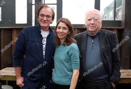 """Stock Photo of Quentin Tarantino, Sofia Coppola, Fred Roos. Quentin Tarantino, writer/director Sofia Coppola, and Fred Roos seen at """"The Beguiled"""" special screening hosted by Quentin Tarantino at Estrella, in West Hollywood, Calif"""