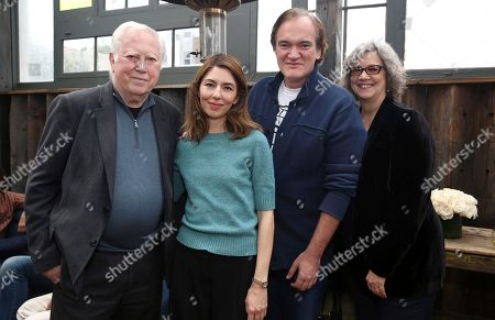 """Fred Roos, Sofia Coppola, Quentin Tarantino, Anne Thompson. Fred Roos, writer/director Sofia Coppola, Quentin Tarantino and Anne Thompson seen at """"The Beguiled"""" special screening hosted by Quentin Tarantino at Estrella, in West Hollywood, Calif"""