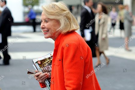 Liz Smith leaves the Celebration of Life Memorial ceremony for Walter Cronkite at Avery Fisher Hall in New York. Smith, a gossip columnist whose mixture of banter, barbs, and bon mots about the glitterati helped her climb the A-list as high as many of the celebrities she covered, has died. Literary agent Joni Evans told The Associated Press she died in New York on . She was 94