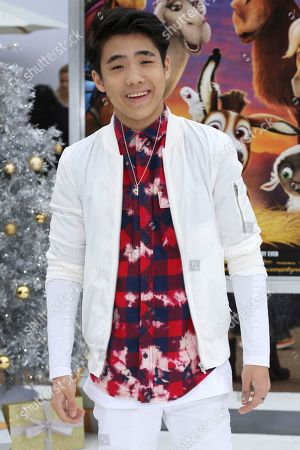 """Stock Image of Lance Lim arrives at the LA Premiere of """"The Star"""" at The Regency Village Theatre, in Los Angeles"""