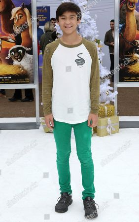 """Forrest Wheeler arrives at the LA Premiere of """"The Star"""" at The Regency Village Theatre, in Los Angeles"""