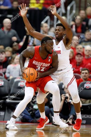 Randy Phillips, Andre Wesson. Radford center Randy Phillips, left, works against Ohio State forward Andre Wesson during an NCAA college basketball game in Columbus, Ohio, . Ohio State won 82-72