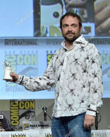 """Mark Sheppard attends the """"Supernatural"""" special video presentation and Q&A on day 4 of Comic-Con International, in San Diego"""