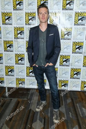 """Composer Fil Eisler attends the """"Behind the Music - Crime, Death and Resurrection"""" press line on day 1 of Comic-Con International, in San Diego"""