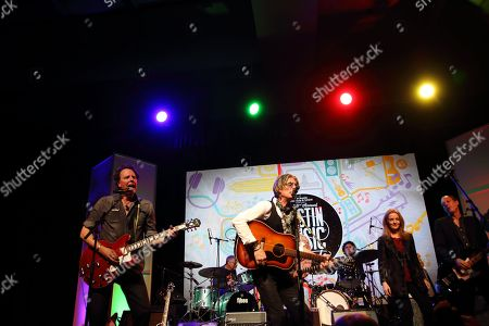 Charlie Sexton (center), and Patty Griffin (right) performs at the Austin Music Awards at SXSW, in Austin, Texas