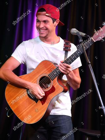 Alex Kinsey of the pop duo Alex & Sierra visits radio station Mix 106 Performance Theater, in Philadelphia