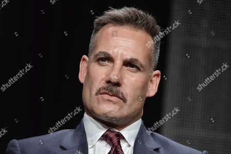 """Adrian Pasdar speaks onstage during the """"The After"""" panel at the Amazon 2014 Summer TCA, in Beverly Hills, Calif"""