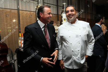 Rick J. Caruso and Chef Michael Mina host grand opening event for Bourbon Steak Los Angeles at The Americana at Brand, on Wednesday, April 2 in Glendale, CA