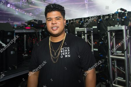 ILoveMakonnen poses for a photo backstage at Pier 94, in New York