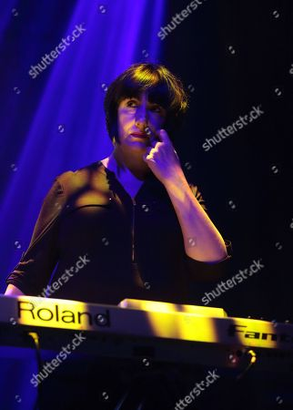 Gillian Gilbert of the band New Order performs in concert during their Music Complete Tour 2016 at the Tower Theater, in Upper Darby, Pa