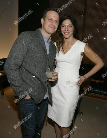 "Actor Josh Charles, left, and director Lori Silverbush, right, attend an after party for a screening of ""A Place at the Table"" presented by Bank of America and The Cinema Society, in New York"