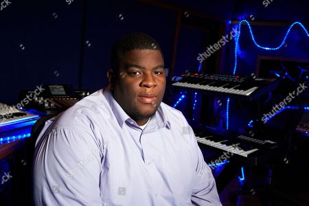 Grammy-nominated producer Salaam Remi poses for a portrait on at his studio in New York