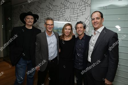Sam Bower, Jon Krakauer, Amy Berg, Brian Grazer and President, Showtime Networks, David Nevins seen at Showtime Documentary Film's private screening of PROPHET'S PREY at UTA, in Beverly Hills, CA