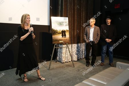Amy Berg, Jon Krakauer and Sam Bower seen at Showtime Documentary Film's private screening of PROPHET'S PREY at UTA, in Beverly Hills, CA