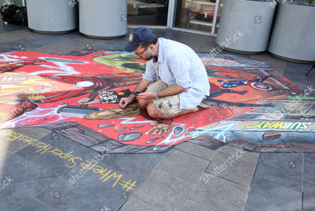 SUBWAY Restaurants commissioned #WhereSuperHeroesEat 3D street art from Joe Hill of Wasabi 3D in celebration of the brand's partnership with the upcoming Marvel movie Avengers: Age of Ultron on in Los Angeles