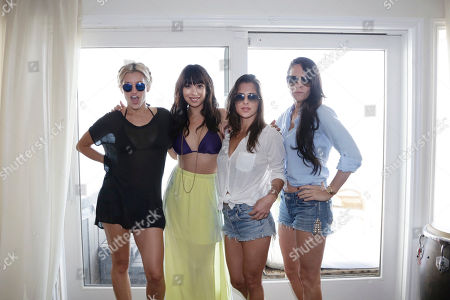 Ashley Roberts, Cheryl Burke, Kelly Monaco and Allison Melnick seen at the Voli Light Vodka's beach house presented by Monsters Invade Oz, on in Malibu, Calif