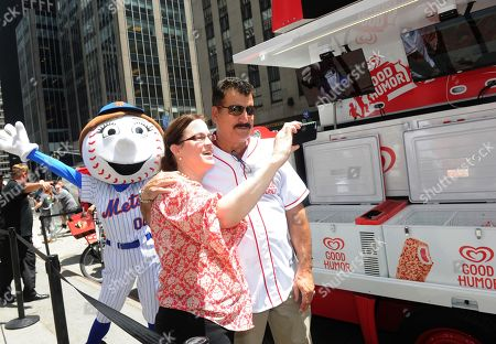 Baseball great Keith Hernandez celebrates the launch of the Good Humor Welcome to Joyhood campaign with fans, in New York. Follow GoodHumor on Twitter as the Joy Squad travels to other cities this summer