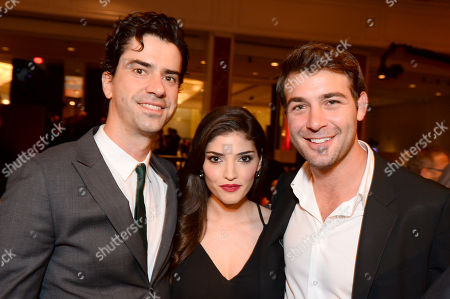 EXCLUSIVE - From left, Hamish Linklater, Amanda Setton, and James Wolk attend the 2014 Television Academy Hall of Fame, at the Beverly Wilshire in Beverly Hills, Calif