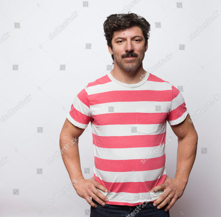 """Stock Photo of Robert Lorie poses for a portrait to promote the film, """"The Strongest Man"""", at the Eddie Bauer Adventure House during the Sundance Film Festival, in Park City, Utah"""