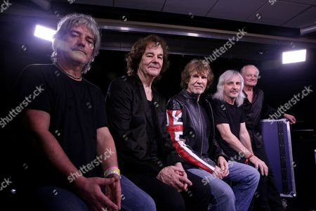 From left, Steve Rodford, Colin Bluntstone, Rod Argent, Tom Toomey and Jim Rodford of The Zombies pose for a portrait during South By Southwest, in Austin, TX