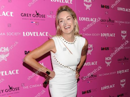 """Actress Sharon Stone attends a special screening of Radius TWC's """"Lovelace"""" in New York. Stone plays Dorothy Boreman, mother of Linda Lovelace in the film"""