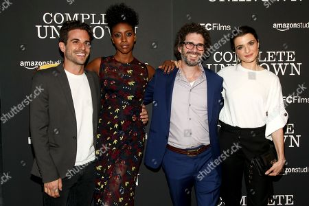 "Frank De Julio, from left, Condola Rashad, Joshua Marston and Rachel Weisz attend the premiere of ""Complete Unknown"" at Metrograph, in New York"
