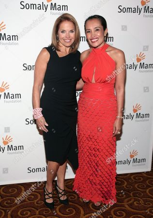 Television journalist Katie Couric, left, and author and human rights advocate Somaly Mam, right, attend the Somaly Mam Foundation Gala on in New York