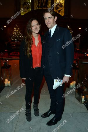 Mary-Clare Winwood, left, and Ben Elliot seen at the The Fayre of St James Charity Concert Presented by Quintessentiallyt at St James's Church, in London