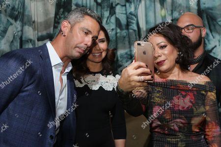 Jorge Posada, Laura Posada and Selenis Leyva