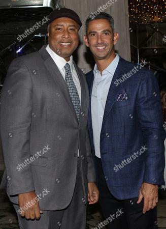 Stock Photo of Bernie Williams and Jorge Posada