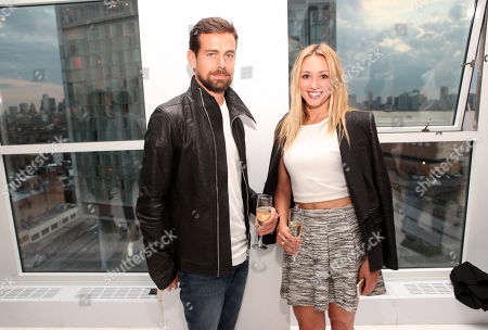 """Jack Dorsey and Kate Greer seen at the """"Psychos"""" by Babe Walker Book Party at Alice and Olivia, in New York, New York"""