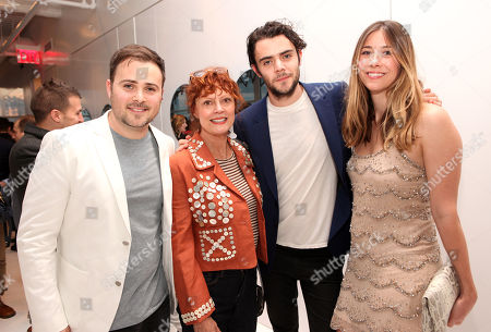 David Oliver Cohen, Susan Sarandon, Tanner Cohen and Lara Marie Schoenhals seen at the 'Psychos' by Babe Walker Book Party at Alice and Olivia, in New York, New York