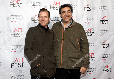 """Ewan McGregor, left, star of """"Last Days in the Desert,"""" poses with the film's writer/director Rodrigo Garcia at a special screening of the film at TCL Chinese Theatre, in Los Angeles"""