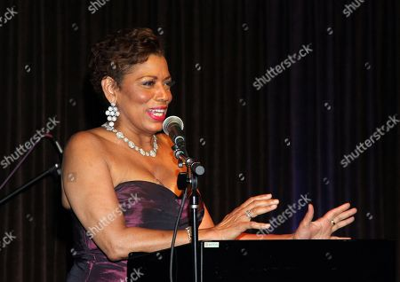 Rolanda Watts speaks at 2015 AMAA Nominations Dinner at H.O.M.E., in Beverly Hills, Calif