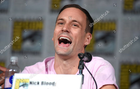 """Nick Blood attends the Marvel panel for """"Agents of S.H.I.E.L.D."""" on day 2 of Comic-Con International, in San Diego, Calif"""