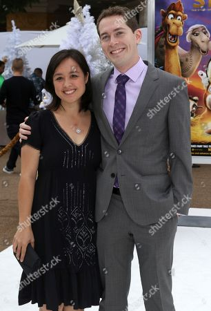 """Director Timothy Reckart, right, and guest arrive at the LA Premiere of """"The Star"""" at The Regency Village Theatre, in Los Angeles"""