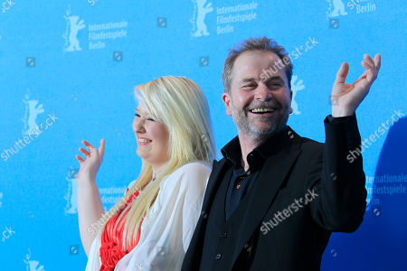 Actress Melanie Lenz and director Ulrich Seidl pose at the photo call for the film Paradise Hope at the 63rd edition of the Berlinale, International Film Festival in Berlin, Friday, Feb.8,2013