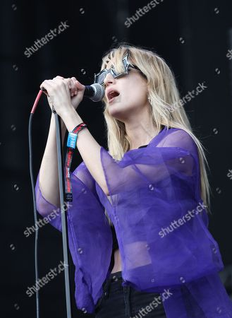 Ioanna Gika of the US band IO Echo performs on day 1 of Lollapalooza 2013 at Grant Park on in Chicago