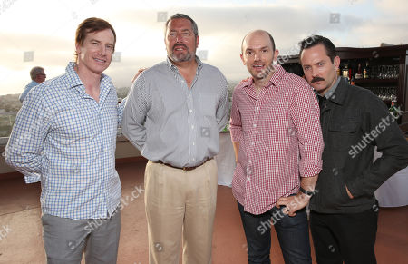 Rob Huebel, Millennium Entertainment President Steve Nickerson, Paul Scheer and Thomas Lennon attend Millennium's 2013 EMA Party on in Marina Del Rey, California