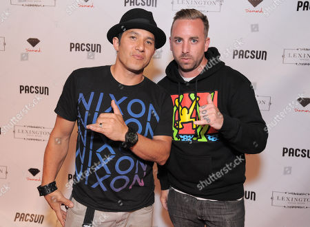 Christian Hosoi and Neil Wright arrive at the 2012 Summer Lex Event presented by PacSun on in Los Angeles, CA