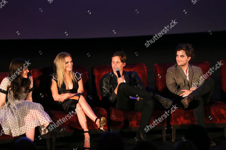 """Madeleine Martin, Madeline Brewer, Bill Skarsgård and Landon Liboiron at a Special Fan Screening of Netflix's """"Hemlock Grove"""" held at The Arclight Theater, in Los Angeles"""