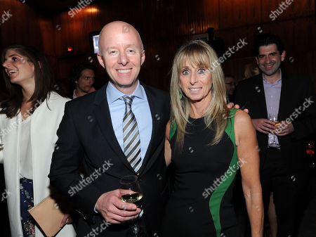 From left, Chris McCumber and Bonnie Hammer attend The Hollywood Reporter Celebrates the 35 Most Powerful People in Media, on April 10th, 2013, in New York