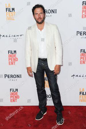 "Jay Huguley attends ""Abattoir"" premiere held at ArcLight Cinemas, in Culver City, Calif"