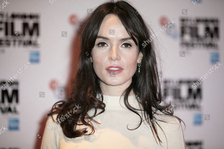 Actress Valene Kane poses for photographers upon arrival at the premiere of the film 71 during the BFI London Film Festival in central London
