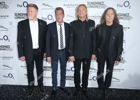 U.S band The Eagles, from left Don Henley, Glenn Frey, Joe Walsh and Timothy Schmidt, arrive before a screening of History of The Eagles Part One, as part of the Sundance Film Festival in the UK, at the o2 Arena in east London